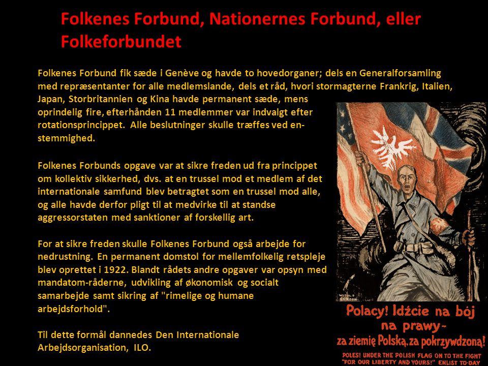 Folkenes Forbund, Nationernes Forbund, eller Folkeforbundet
