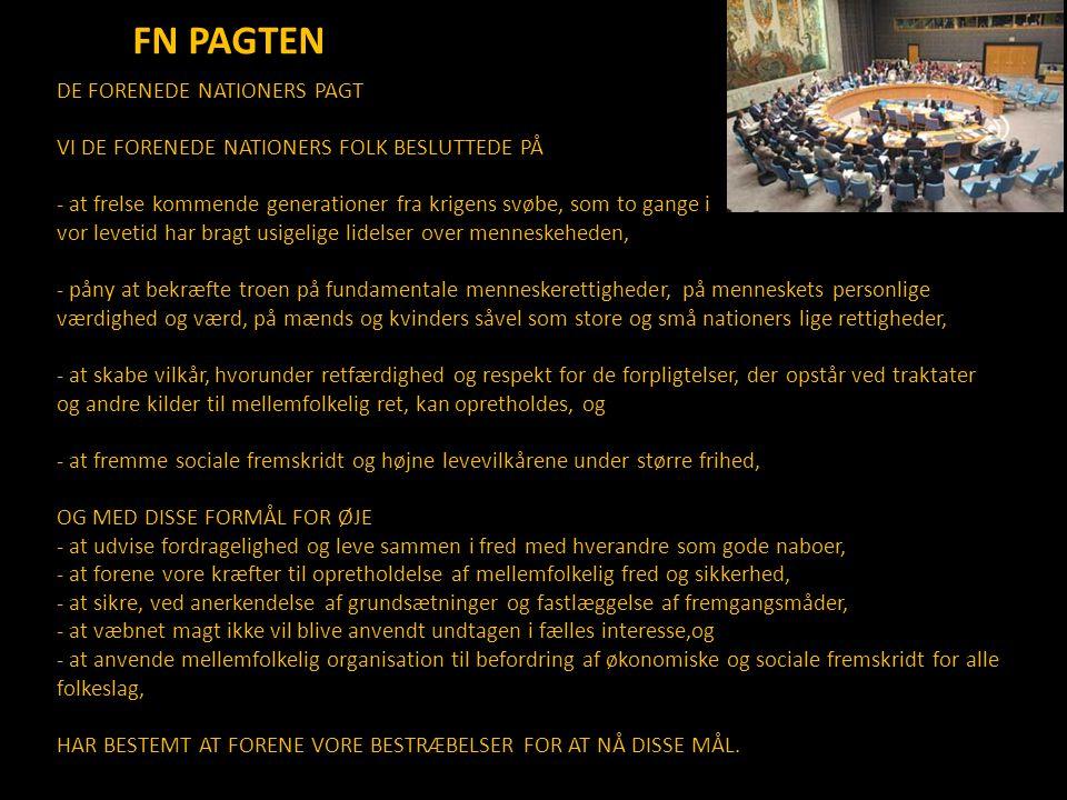 FN PAGTEN DE FORENEDE NATIONERS PAGT
