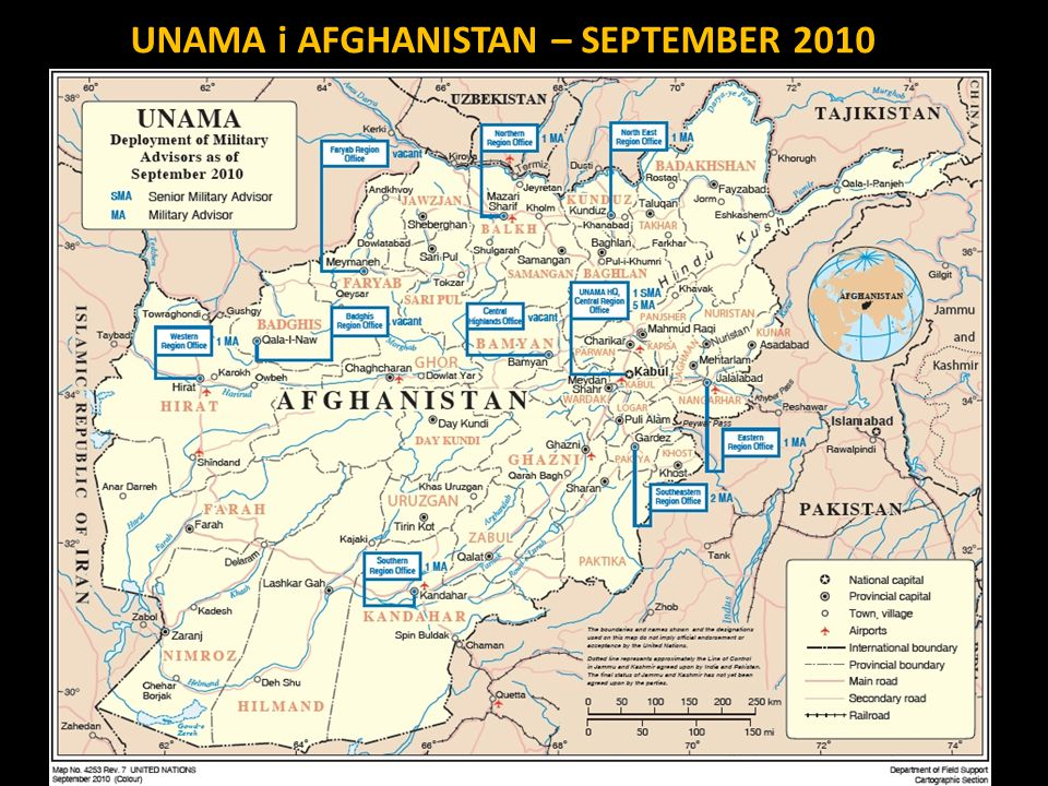 UNAMA i AFGHANISTAN – SEPTEMBER 2010