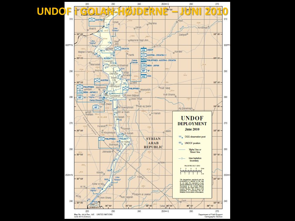 UNDOF i GOLAN-HØJDERNE – JUNI 2010