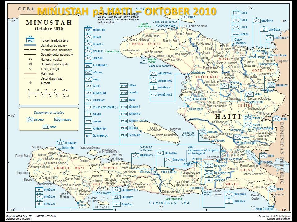 MINUSTAH på HAITI – OKTOBER 2010