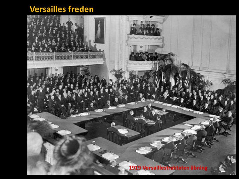 Versailles freden 1919 Versaillestraktaten åbning