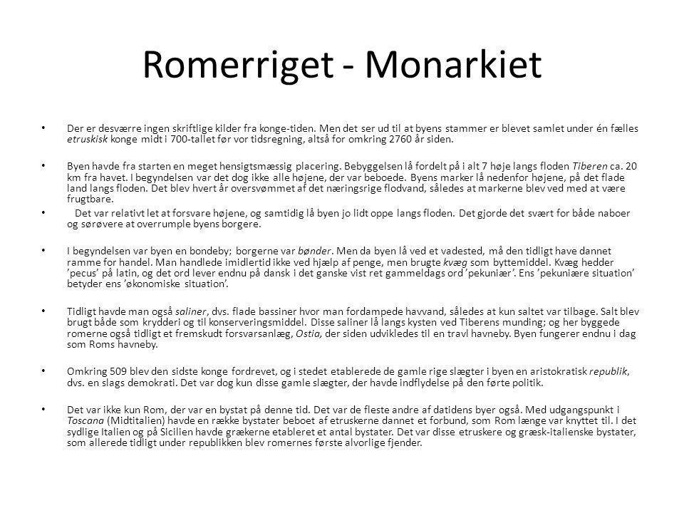 Romerriget - Monarkiet