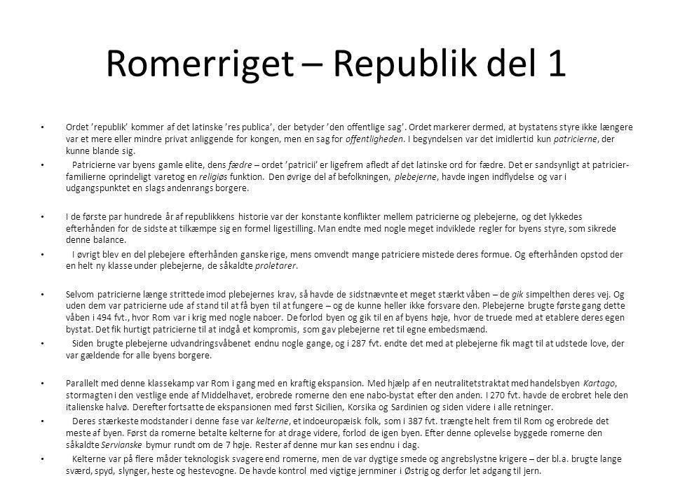 Romerriget – Republik del 1