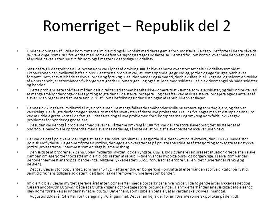 Romerriget – Republik del 2