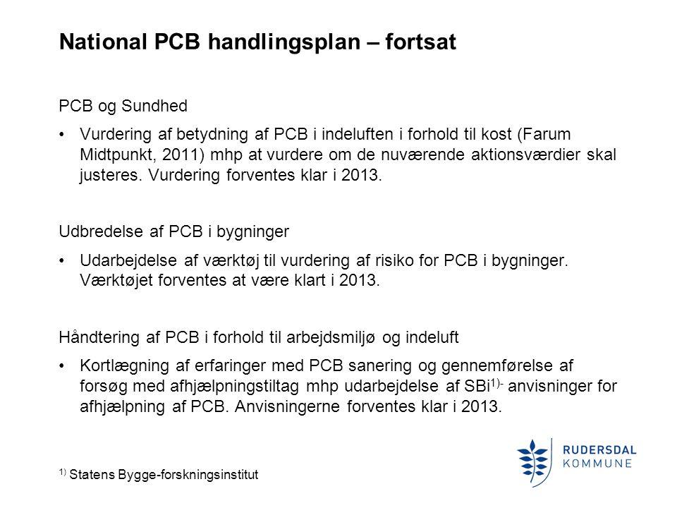National PCB handlingsplan – fortsat