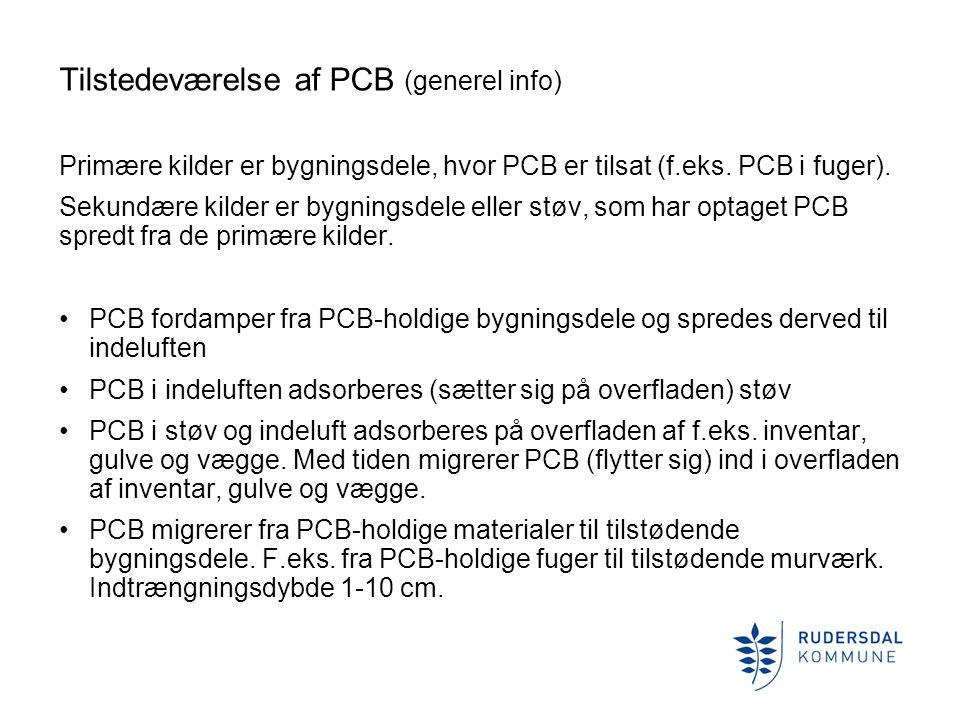 Tilstedeværelse af PCB (generel info)