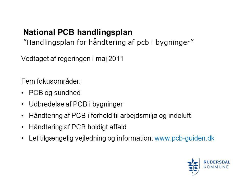 National PCB handlingsplan Handlingsplan for håndtering af pcb i bygninger