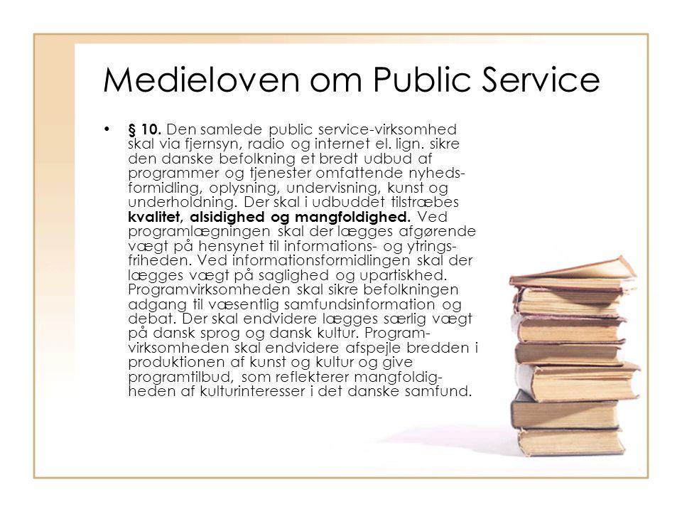 Medieloven om Public Service