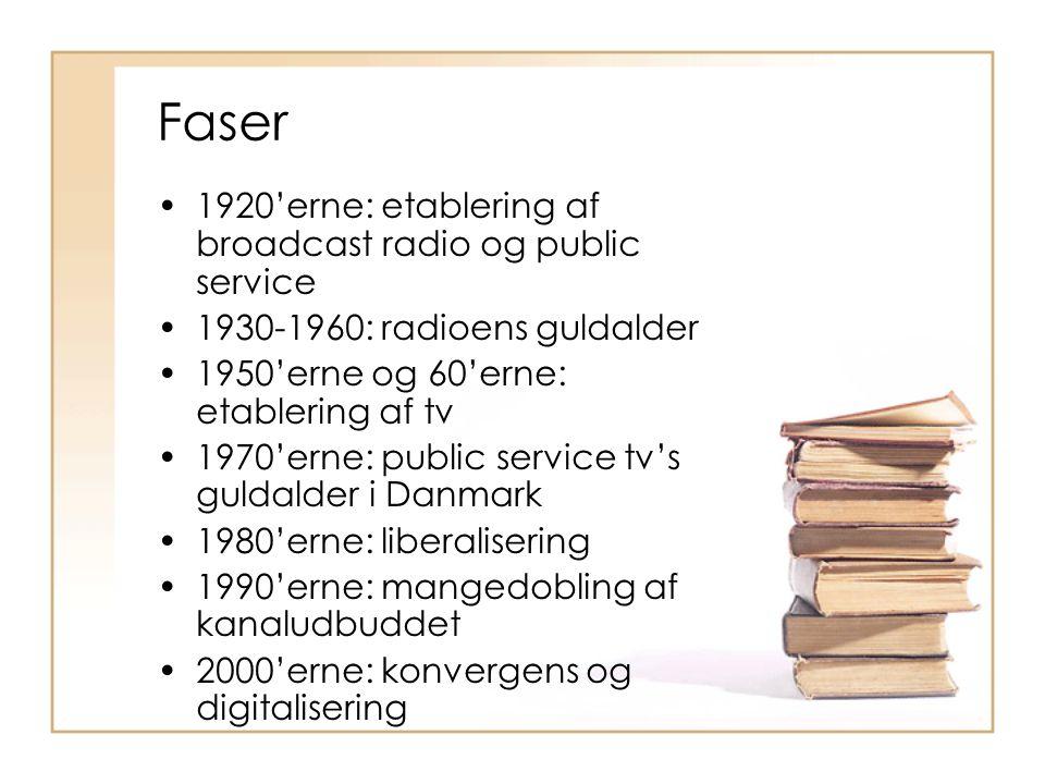 Faser 1920'erne: etablering af broadcast radio og public service