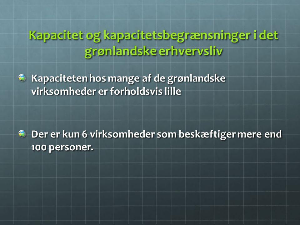 Kapacitet og kapacitetsbegrænsninger i det grønlandske erhvervsliv