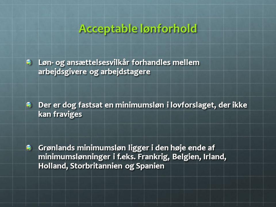 Acceptable lønforhold