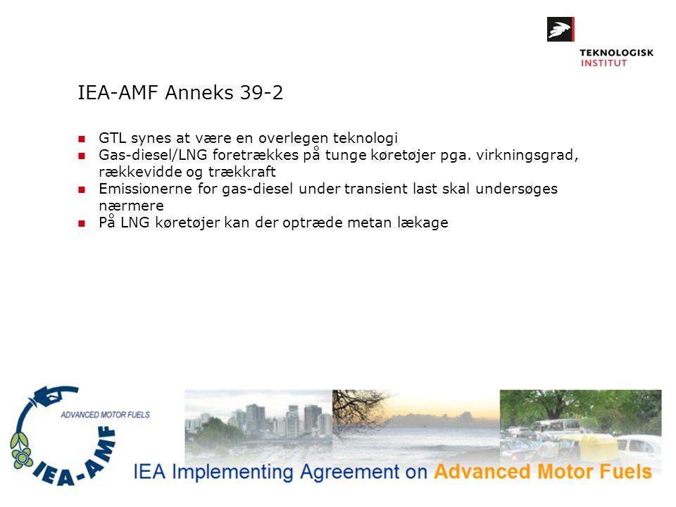 IEA-AMF Anneks 39-2 GTL synes at være en overlegen teknologi