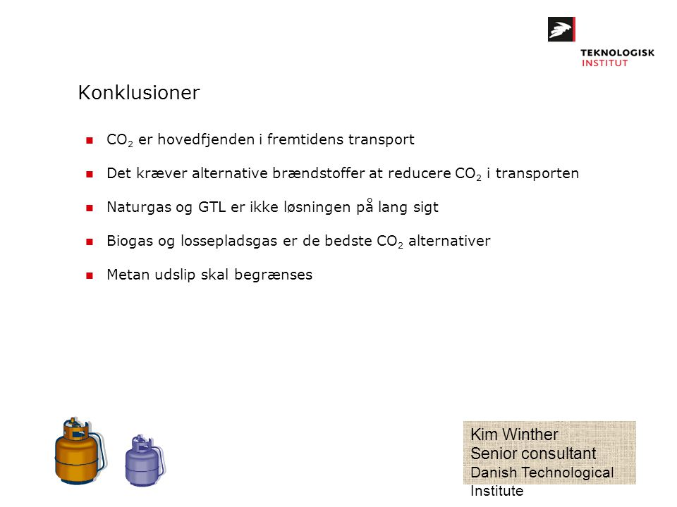 Konklusioner Kim Winther Senior consultant