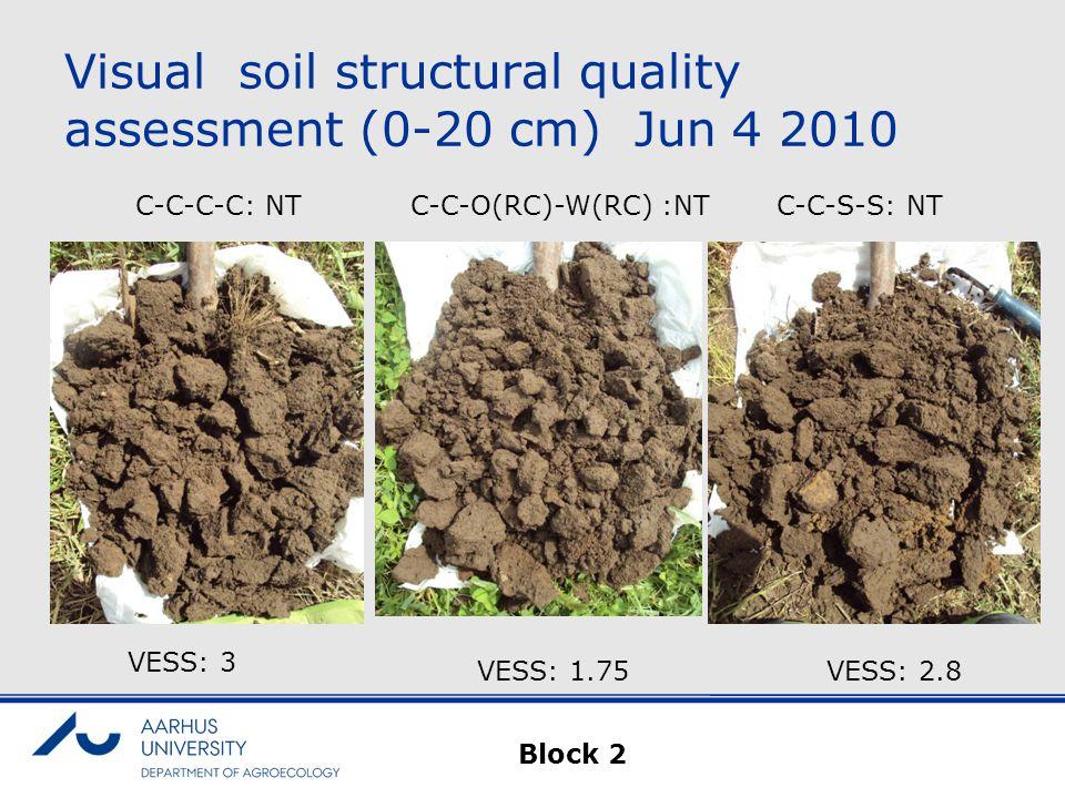 Visual soil structural quality assessment (0-20 cm) Jun 4 2010