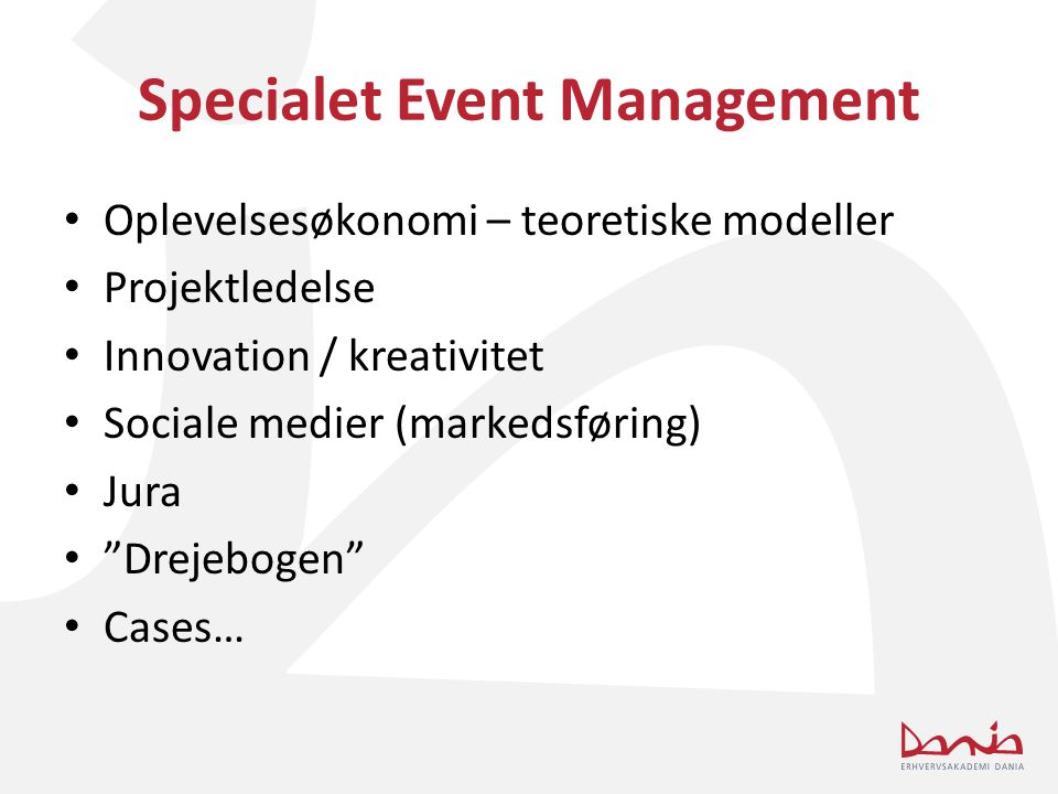 Specialet Event Management
