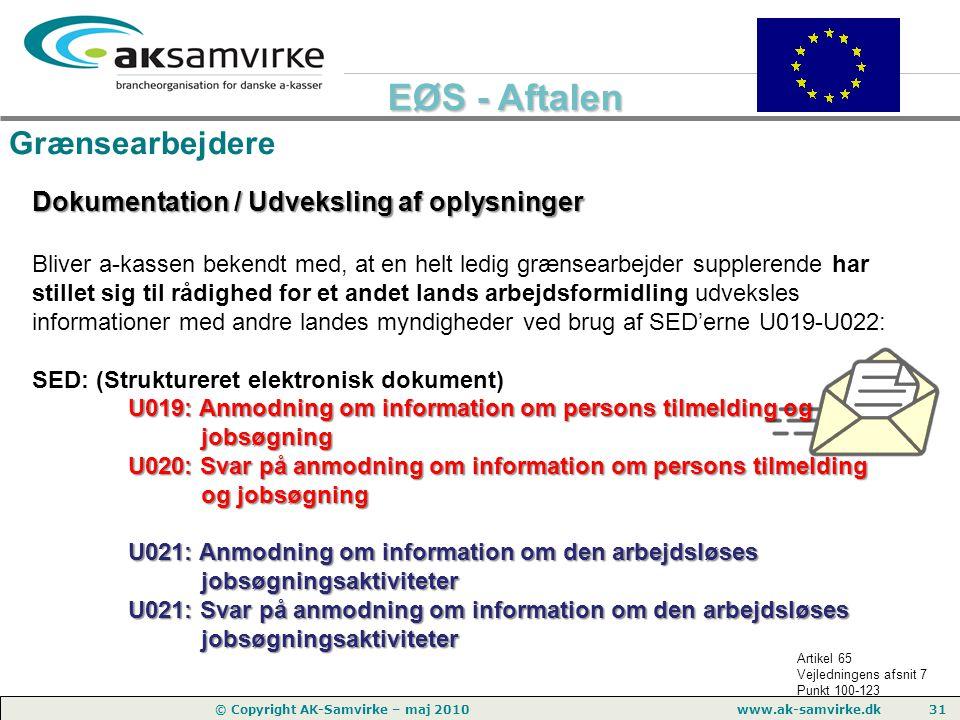 Grænsearbejdere Dokumentation / Udveksling af oplysninger