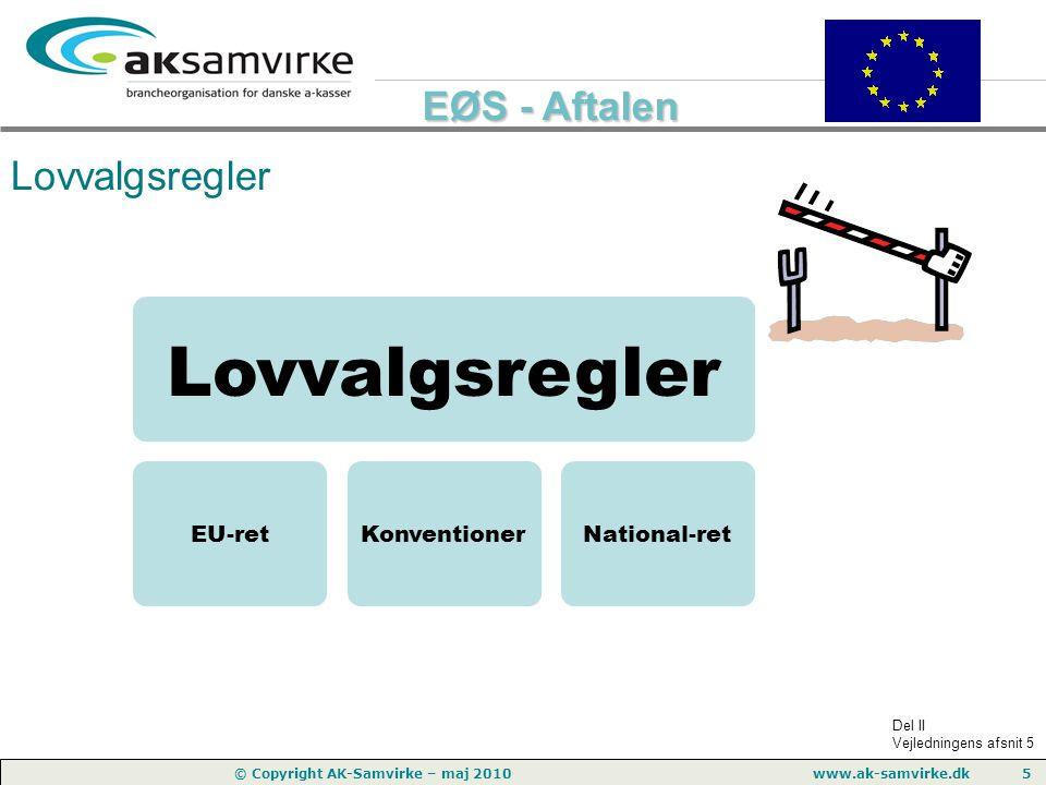 Lovvalgsregler Lovvalgsregler EU-ret Konventioner National-ret
