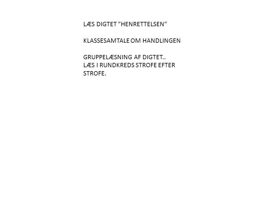 LÆS DIGTET HENRETTELSEN