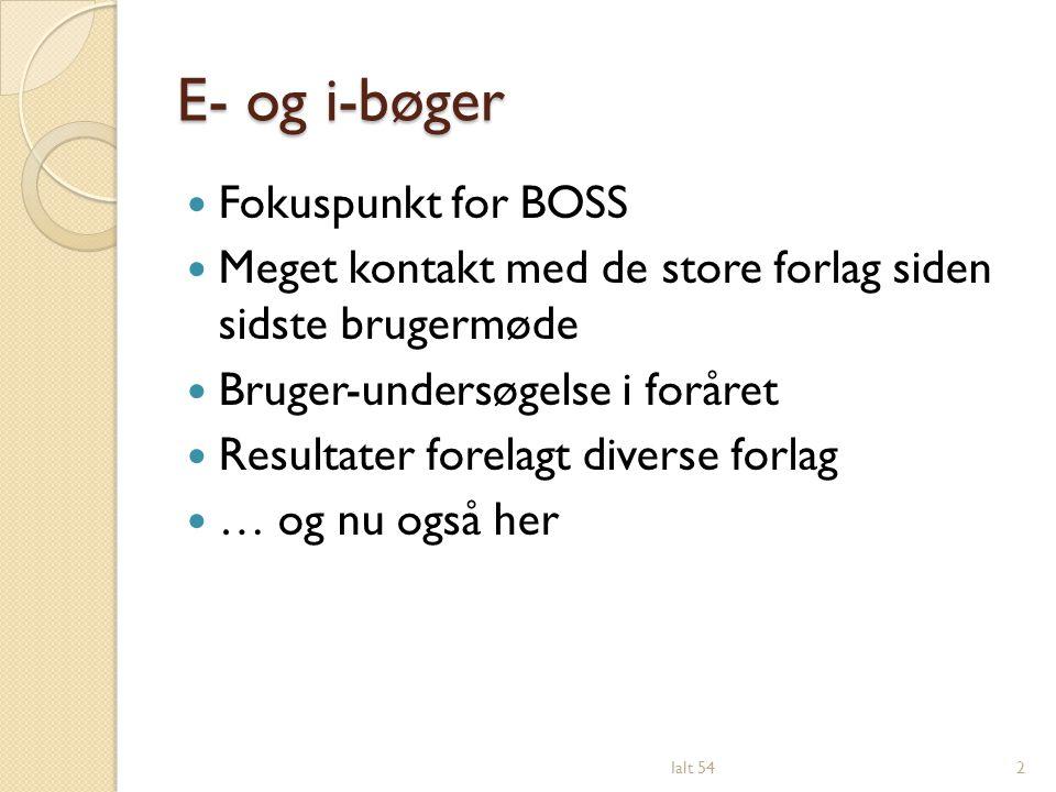 E- og i-bøger Fokuspunkt for BOSS