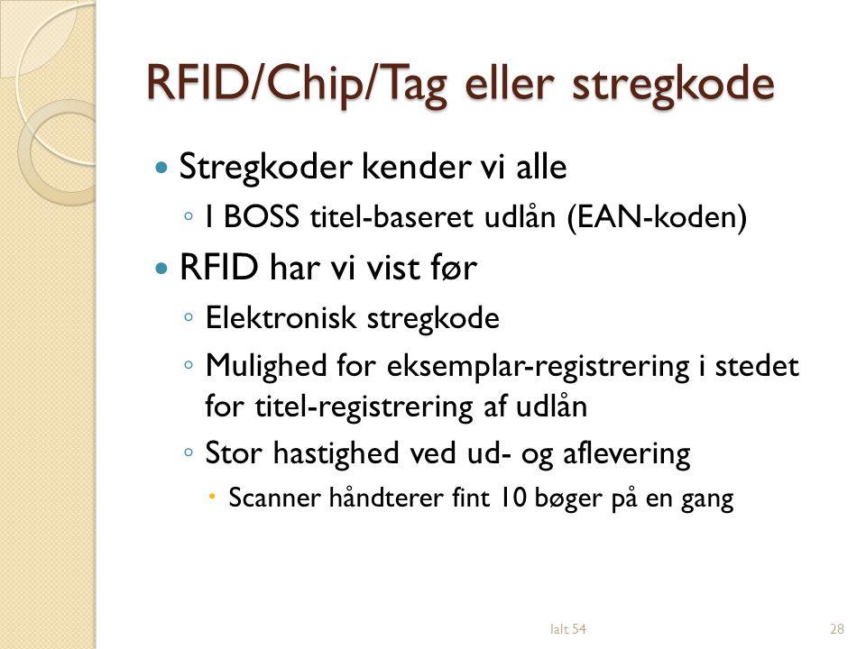 RFID/Chip/Tag eller stregkode
