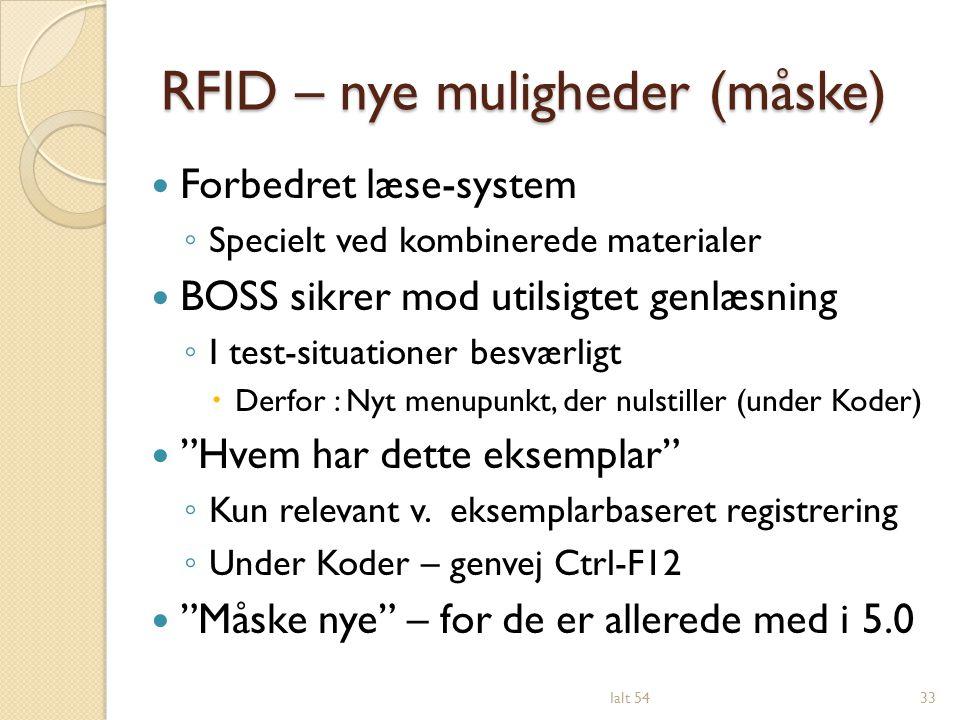 RFID – nye muligheder (måske)