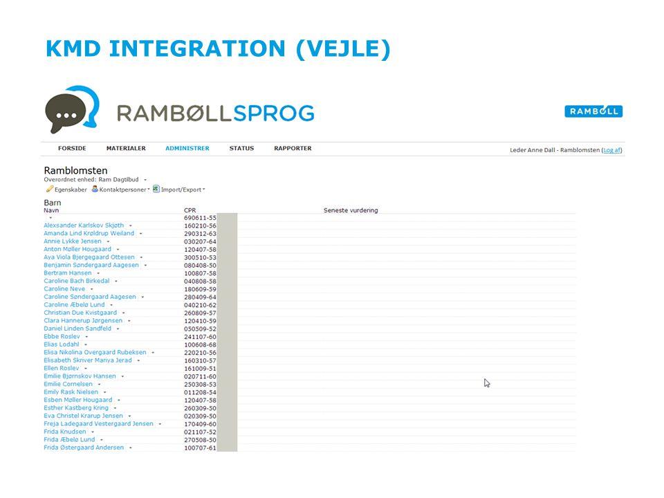 KMD integration (Vejle)