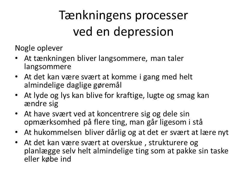 Tænkningens processer ved en depression
