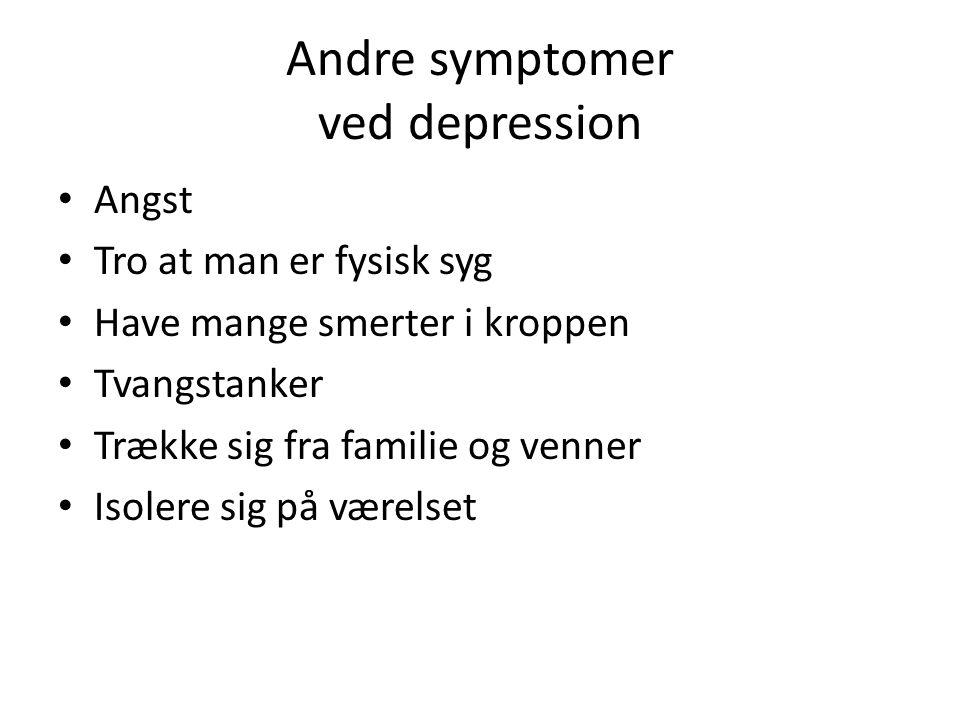 Andre symptomer ved depression