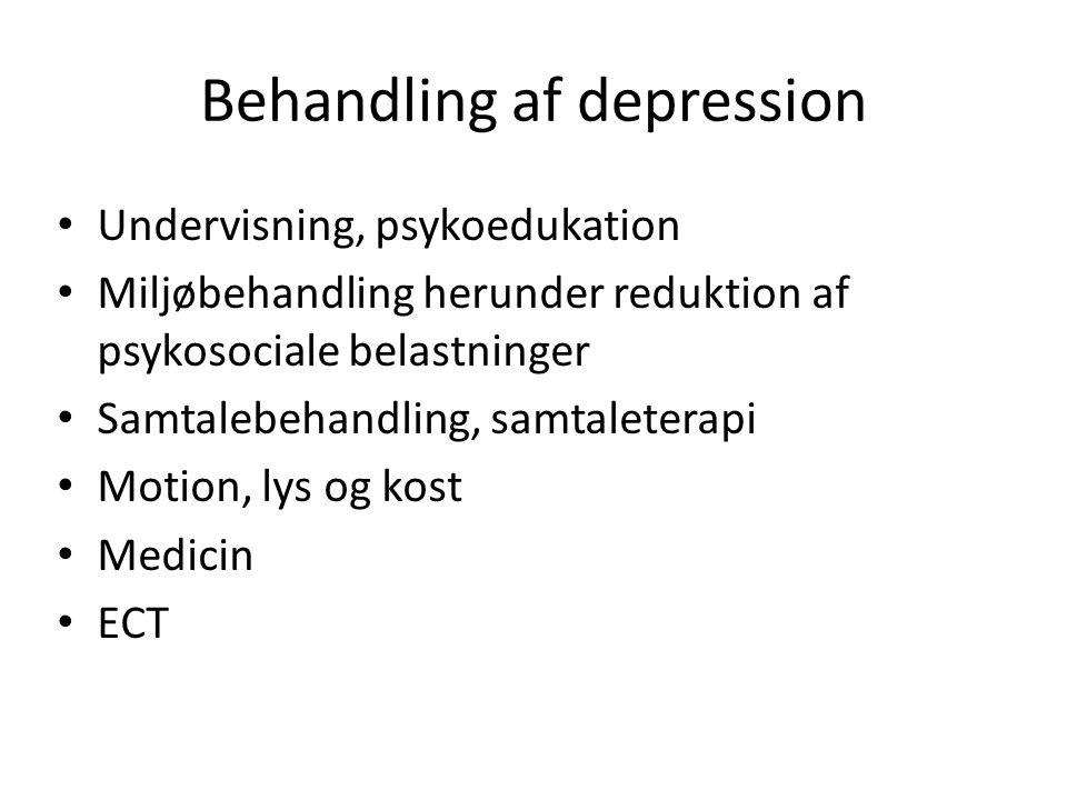 Behandling af depression