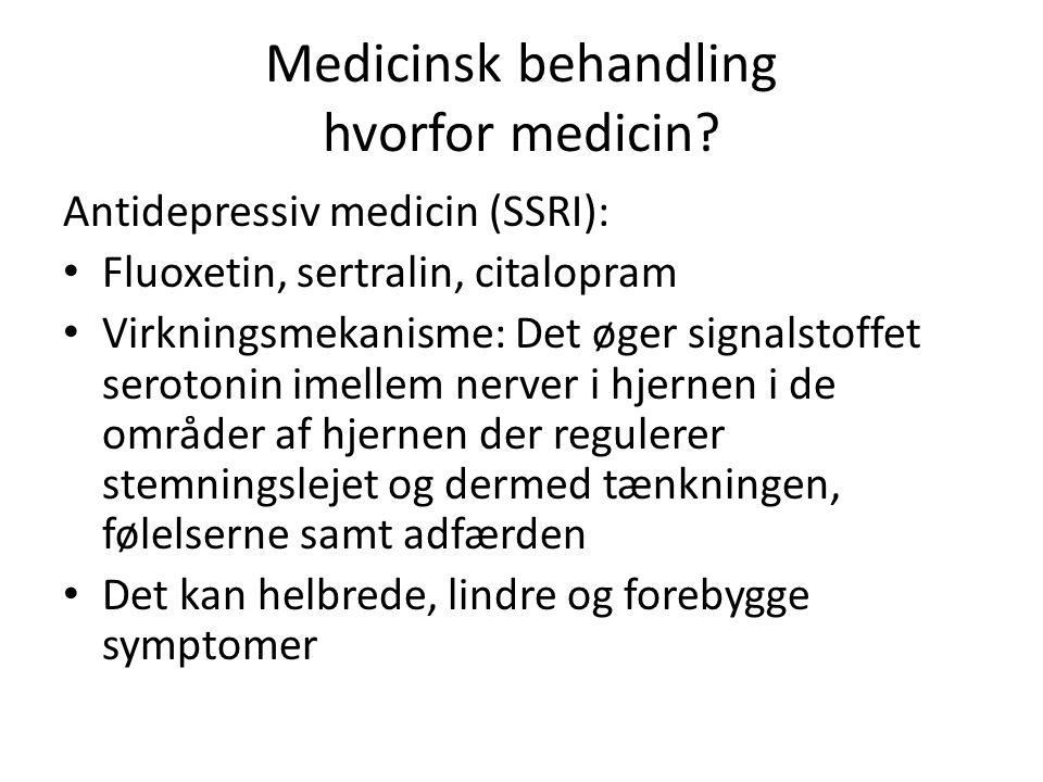 Medicinsk behandling hvorfor medicin