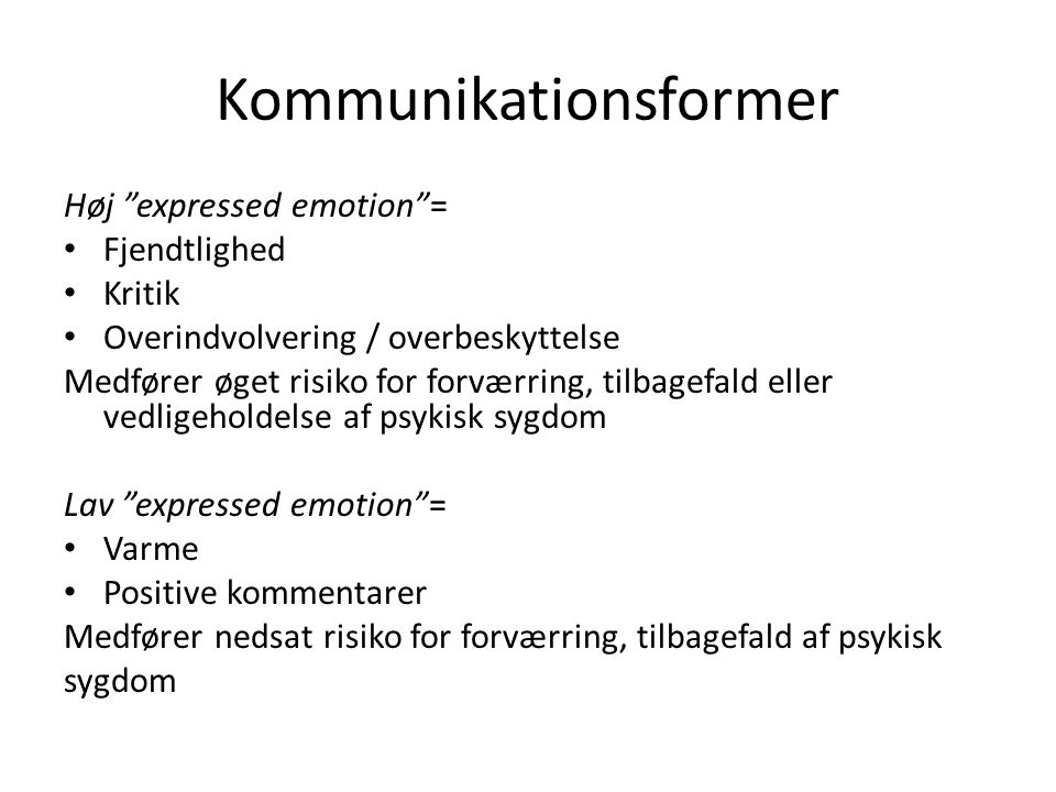 Kommunikationsformer