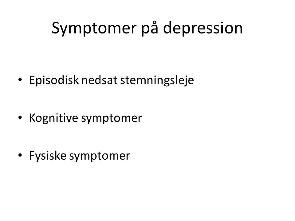 Symptomer på depression