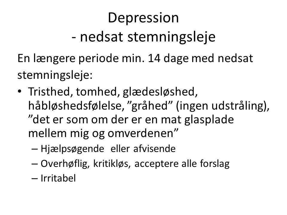 Depression - nedsat stemningsleje