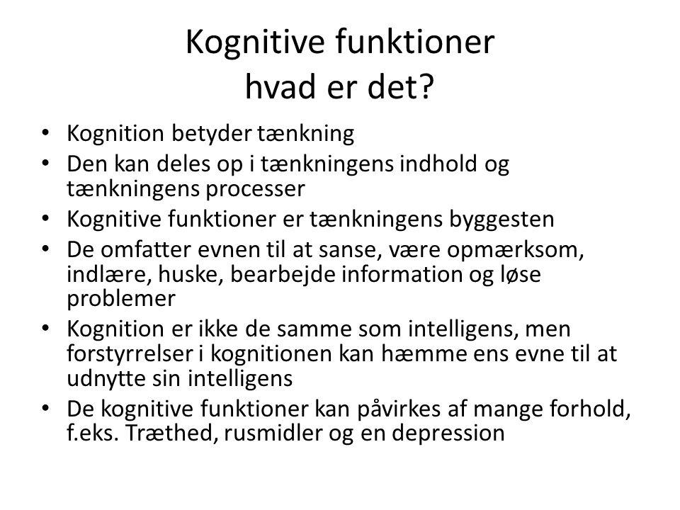 Kognitive funktioner hvad er det
