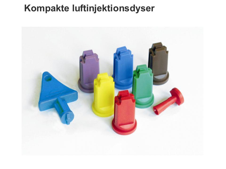Kompakte luftinjektionsdyser