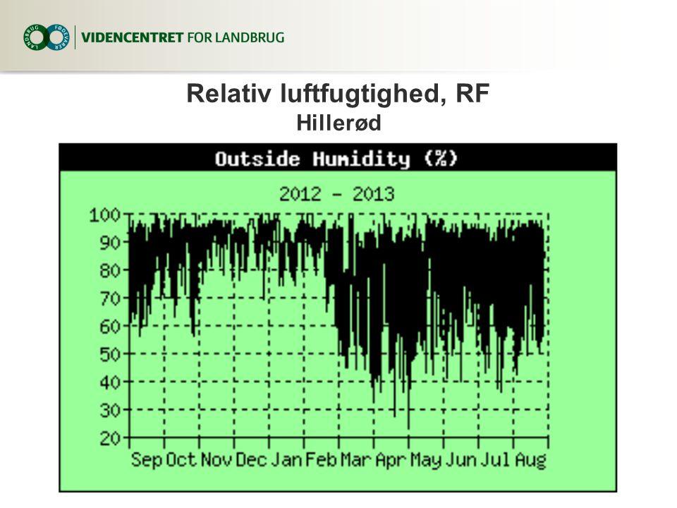Relativ luftfugtighed, RF Hillerød