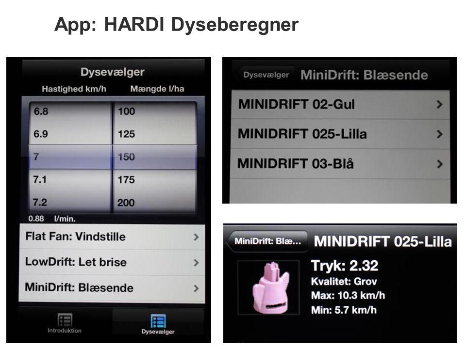 App: HARDI Dyseberegner