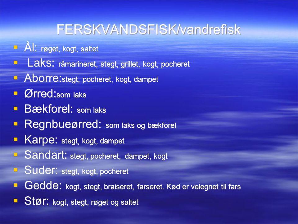 FERSKVANDSFISK/vandrefisk