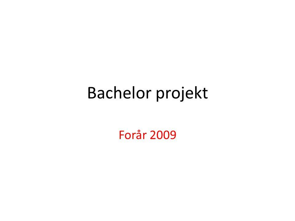 Bachelor projekt Forår 2009