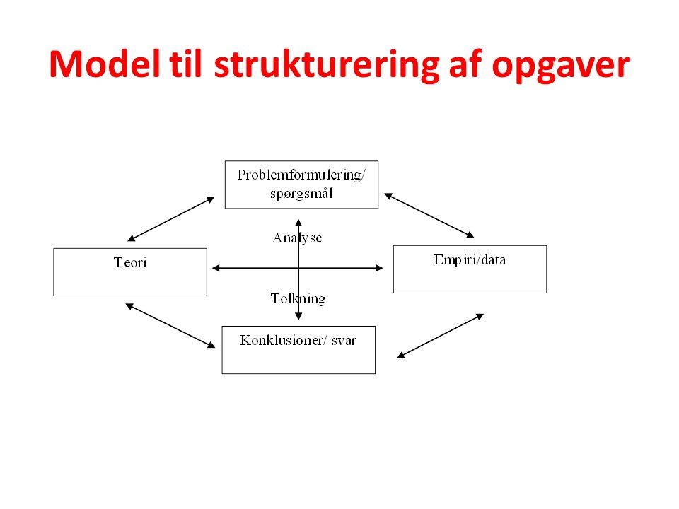 Model til strukturering af opgaver