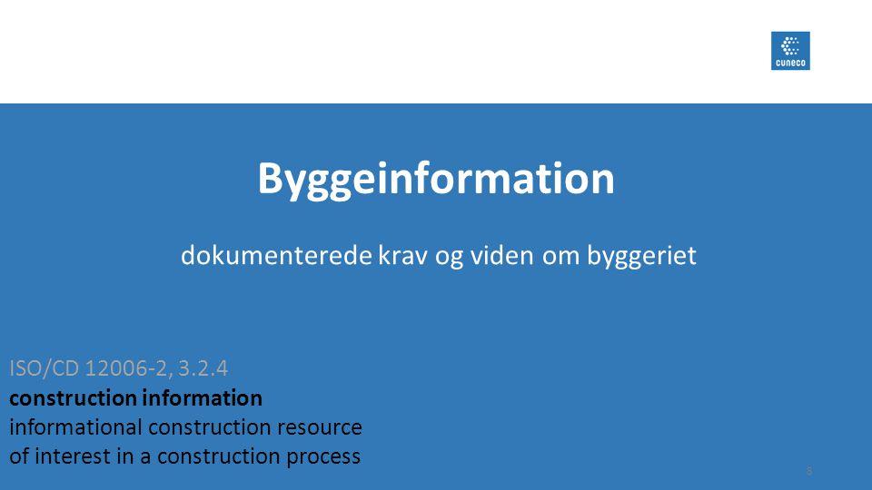 dokumenterede krav og viden om byggeriet