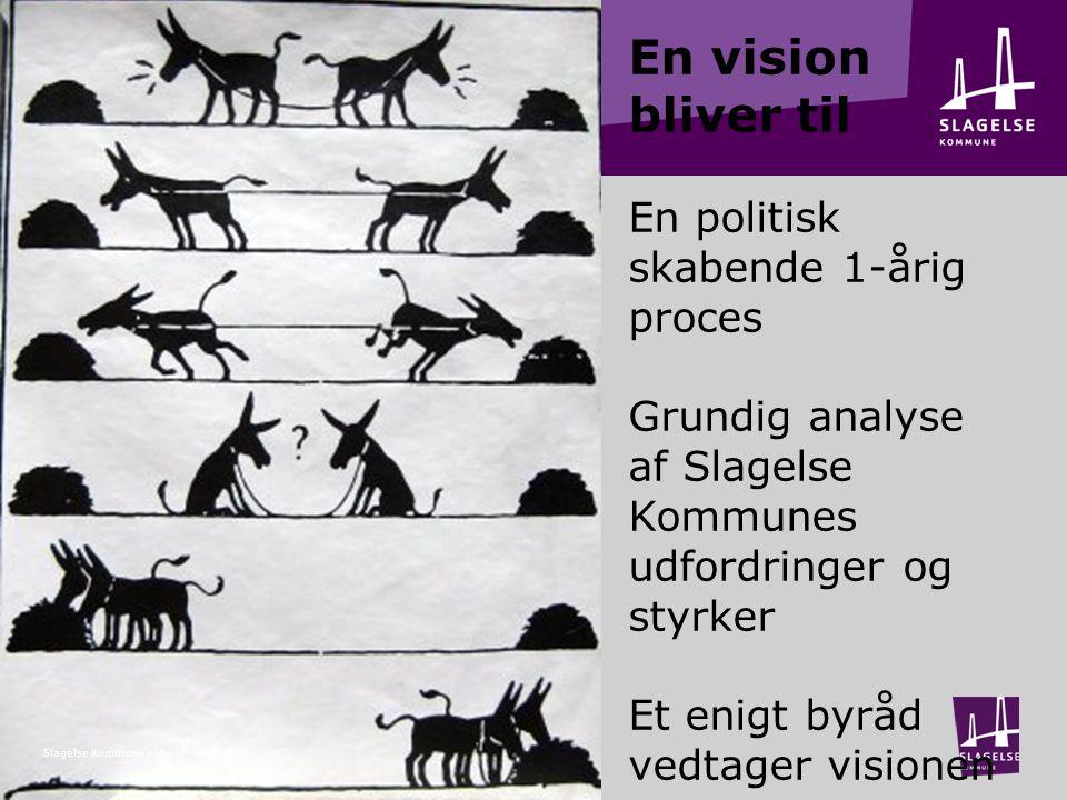 En vision bliver til En politisk skabende 1-årig proces