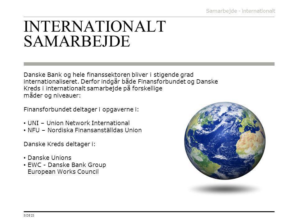 INTERNATIONALT SAMARBEJDE