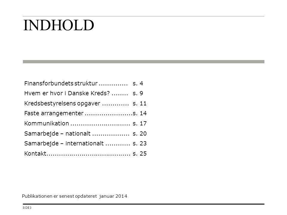 INDHOLD Finansforbundets struktur ..............