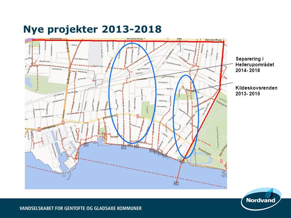 Nye projekter 2013-2018 Separering i Hellerupområdet 2014- 2018