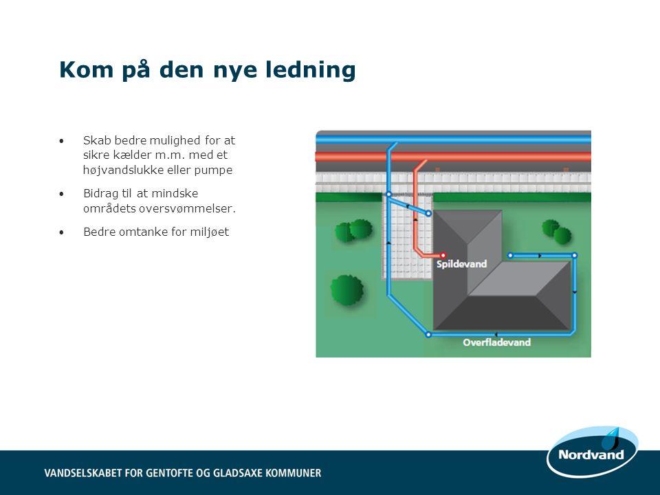 Kom på den nye ledning Skab bedre mulighed for at sikre kælder m.m. med et højvandslukke eller pumpe.