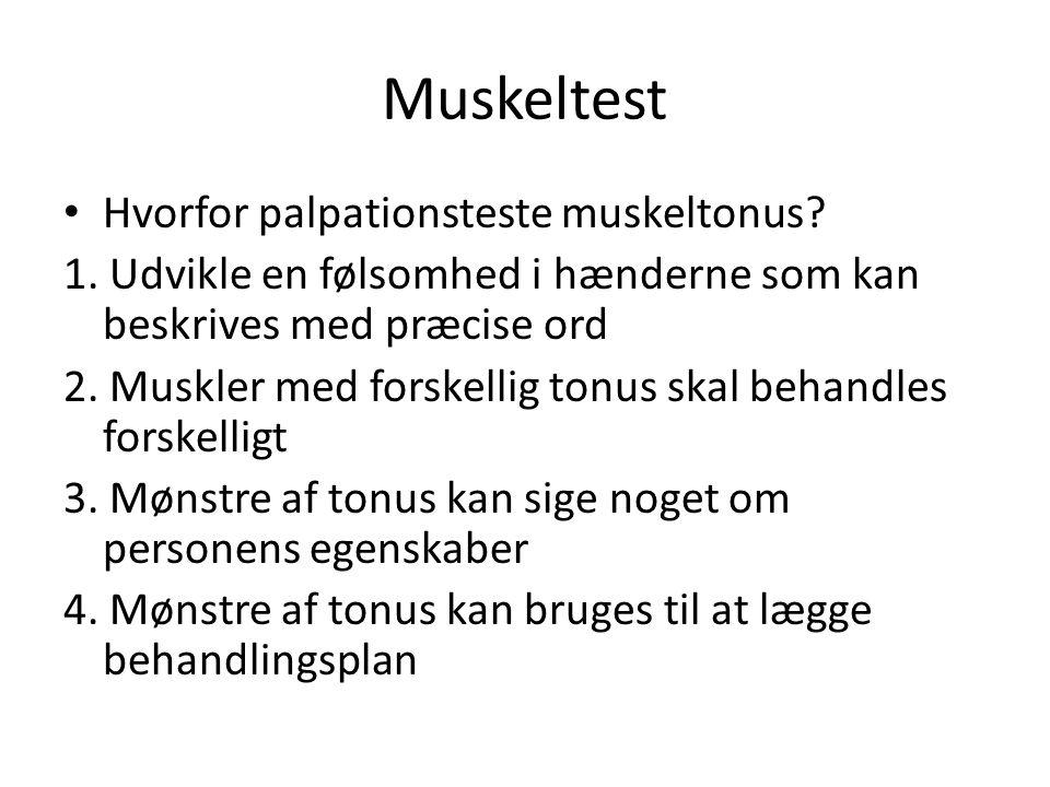 Muskeltest Hvorfor palpationsteste muskeltonus