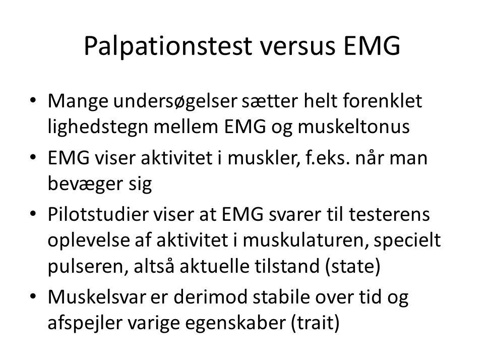 Palpationstest versus EMG