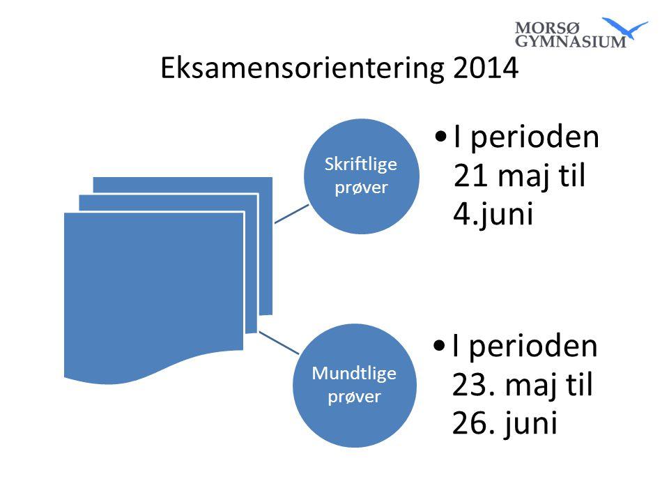 I perioden 21 maj til 4.juni I perioden 23. maj til 26. juni